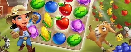 FarmVille: Harvest Swap - match-3 spojovačka ze série FarmVille (92 %)