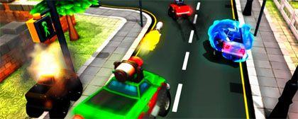 Moderní hraní Racing Wars s ovládáním skrz telefon za 95%