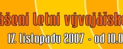 Vyhlášení Letní vývojářské soutěže VCH 2007