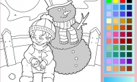 Winter Day Coloring