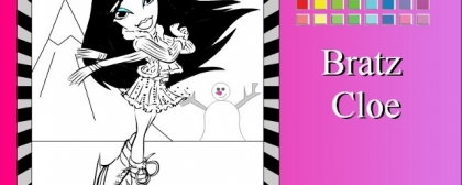 Bratz Cloe Coloring 4