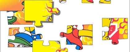 Bart Simpsoms Puzzle jigsaw
