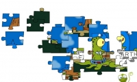 Puzzle aliens simpsons