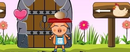 Pig Catching Eggs