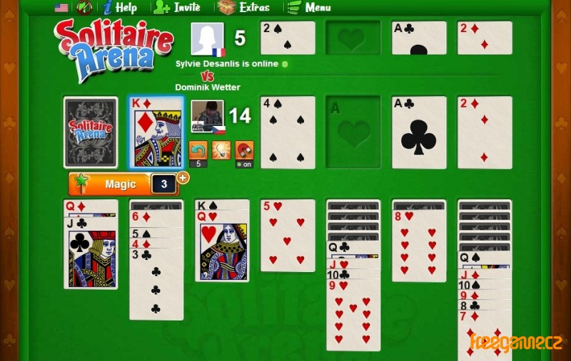 Solitaire Online hra zdarma
