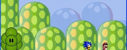 Super Mario and Sonic