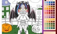 Halloween Girl Coloring